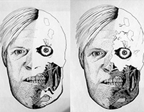 Two-Face Dot Drawing