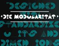 Die Modularität typeface