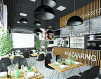 проект интерьера шоссейно кольцевой трассы Kazanring