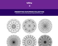 Blithe Artist Portfolio Website Concept