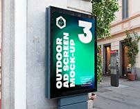 Outdoor Advertising Screen Mock-Ups 15 (v2)