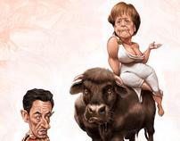 Merkel & Sarkozy magazine cover