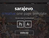 sarajevo. - One Landing page - FREE PSD