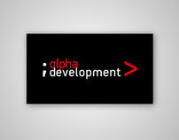 Фирстиль IT-компании «alpha development»