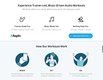 Conversion copy & ad campaign: Aaptiv audio fitness app
