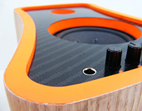 Carbon fibre and oak speakers (2009)