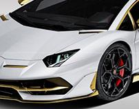 2018 Lamborghini Aventador SVJ Bianco Oro