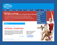 Orlando Metro Gymnastics Webdesign