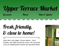 Upper Terrace Market website