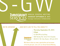 Immigrant Services Guelph-Wellington AGM invitation