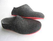 Contrast Colour Sole Felted wool Shoes. Women's sizes