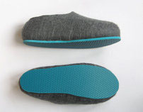 Color Sole Wool Shoes. Men's sizes