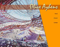 Web site design for NYC artist Olive Ayhens