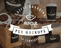14 PSD Coffee Branding Mockups