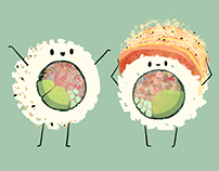 SUSHI FRIENDS Drawing & Brush Set