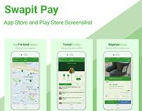 Visual Design for Swapit App Store Screenshots