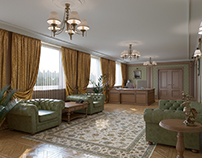 The room reception at the Russian Embassy