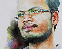 My Friend Arjun Singh -watercolor paint by Kamal Nishad