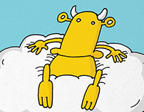 Children's book illustration: Kistehén: Felhős