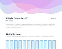 UI Style Elements 2017