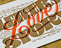 LETTERS LOVE STORY - Letterpress Postcards