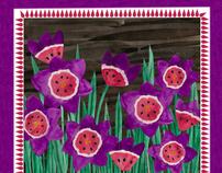 Wild Flower Silk Scarves