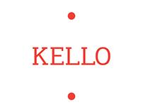 Kello typeface, custom font