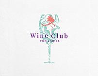 Wine Club For Women Logo Template $31.00