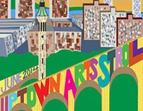 Uptown Arts Stroll poster design