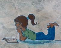 Ilustración niña.