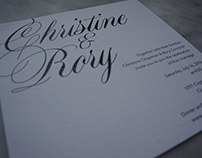 Black and White Ojai Wedding Invitation Suite