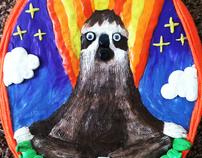 Clay Meditating Sloth