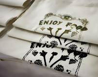 Screen printed vegetables bags