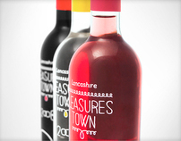 Pleasures Town Wines / Label Design
