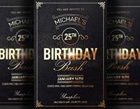 Classy Birthday Flyer Invitation