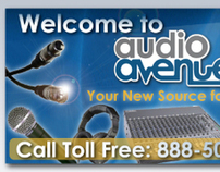 Web Banners for Audio Avenue