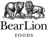BearLion Foods Logomark Illustrated by Steven Noble