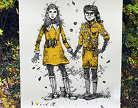 Moonrise Kingdom inspired A2 Limited Edition silkprint