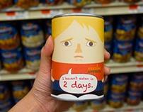 Feeding America Guerilla Packaging-as-Advertising