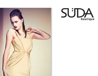 Logotype and promotional materials for Süda boutique