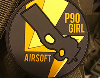 p90 Girl Airsoft Patches