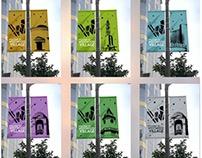 Westwood Village flag banners