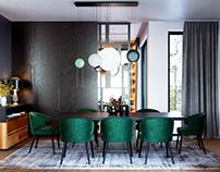 VIZprofistudio Luxury Dining room visualization 3D, CGI
