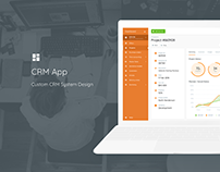 CRM App for management users, work time, projects etc.