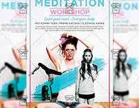 Meditation - Premium A5 Flyer Template