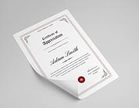 Multipurpose Certificate Template V1