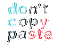 Don't Copy Paste made from tiny stickers
