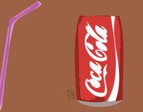 I drink Coke.