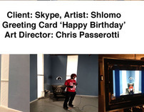 SKYPE Happy Birthday Greeting Card- Artist: SHLOMO