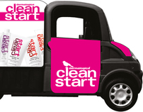 Clean Start by Dermalogica, Electric Van Livery Design